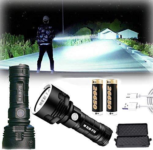 LED Hand Taschenlampe wiederaufladbar, 30000-100000 lumen high...