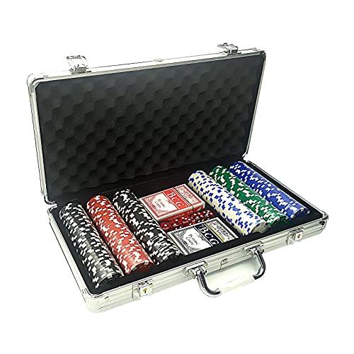 EUROXANTY Poker-Koffer, 300 Teile, Poker-Set mit 2 Decks und...