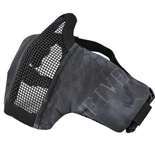 QMFIVE Tactical Maske, Stahl Halbmaske und verstellbare...