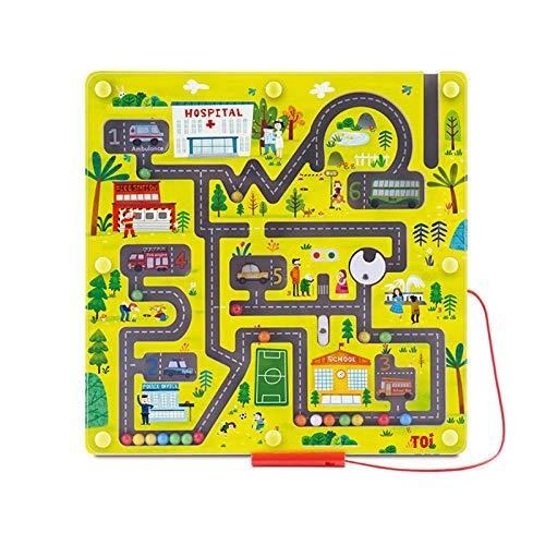 WFF Spielzeug Holz magnetisches Labyrinth-Spiel for Kinder,...