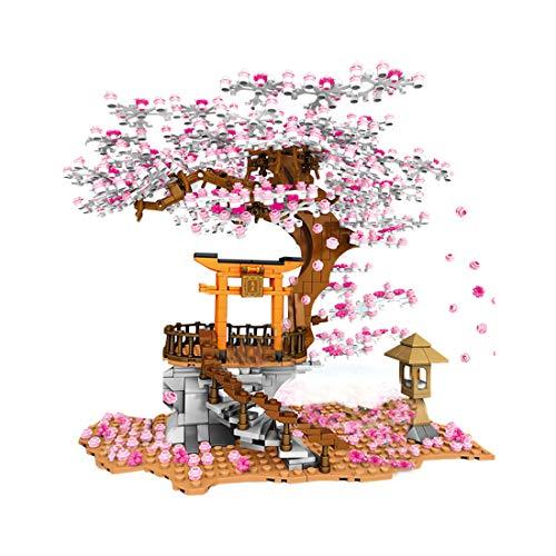 Bybo Sakura Baum Bausteine mit Minifiguren und Beleuchtung 1167...