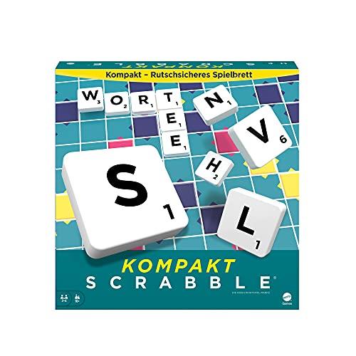 Mattel Games CJT13 - Scrable Kompakt Brettspiele, Spiele zum...