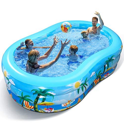 iBaseToy Aufblasbarer Pool - Groß Planschbecken für Kinder,...