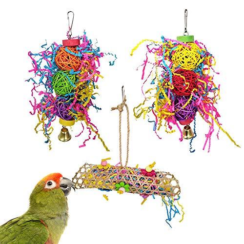 AcserGery Vogelspielzeug 3 Packungen für Sittiche,...