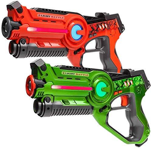 Light Battle Active Lasertag Set - 2X Laserpistole (grün,...