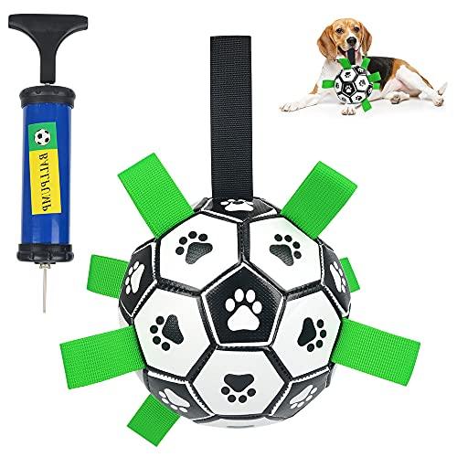 Hundespielzeug Fußball, Wasserspielzeug Hund mit Grab Nylon Tabs...