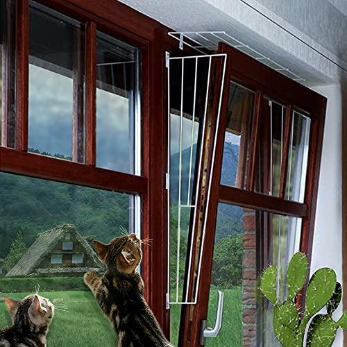 M.Versand Kippfenster-Schutzgitter Set, 3-TLG, Metall, weiß -...