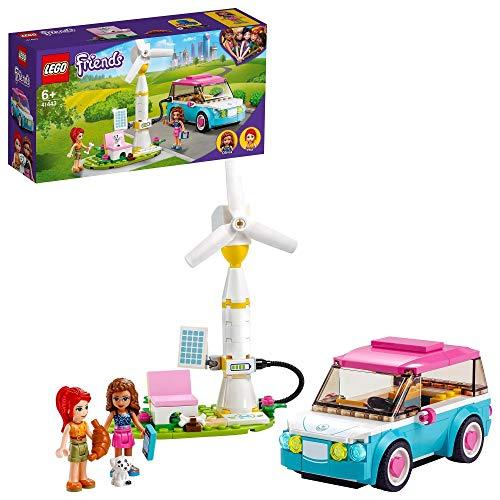 LEGO 41443 Friends Olivias Elektroauto Spielzeug, Spielset zur Umweltbildung für Kinder ab 6...