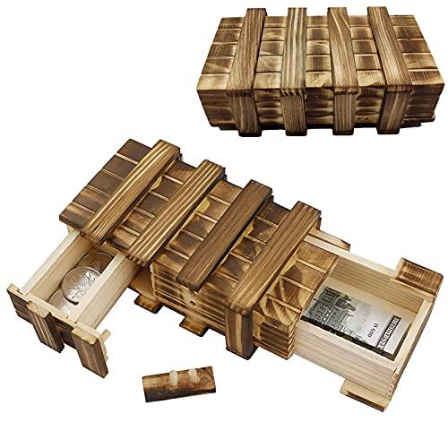 Magische hölzerne Geschenkbox Holz Geheimbox Magische Rätselbox...