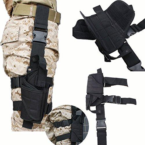 AGPTEK Taktische Beinholster Pistolenholster Oberschenkelholster Halfter mit Magazintasche...