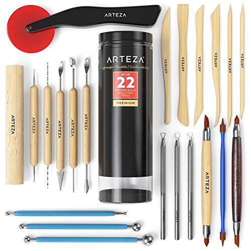 Arteza Töpferwerkzeuge und Modellierwerkzeuge, Set mit 22 Teilen...