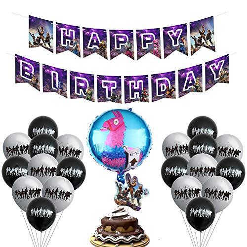 BESLIME Videospiel Party Zubehör Happy Birthday Gaming Banner...