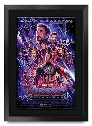 HWC Trading Avengers Endgame A3 Gerahmte Signiert Gedruckt...