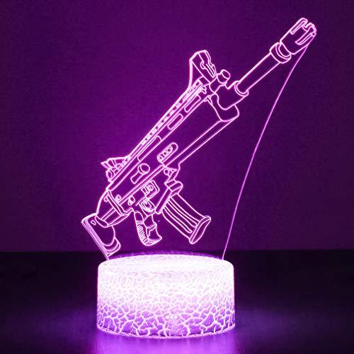 3D Festungslampe Battle Bus RGB Stimmungslampe 7 Farben Sockel...