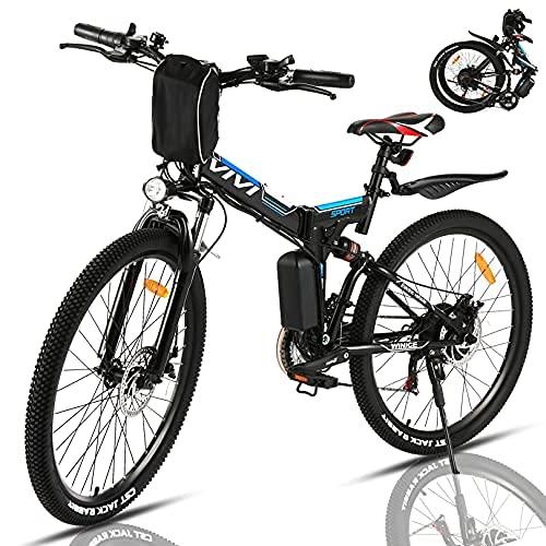 VIVI Elektrofahrrad Herren 26 Zoll Faltbares E Bike Mountainbike,...