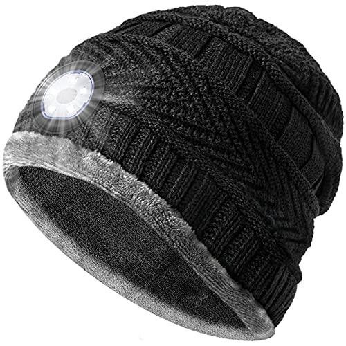 Geschenke für Männer Mütze mit LED Licht - Papa Männer...
