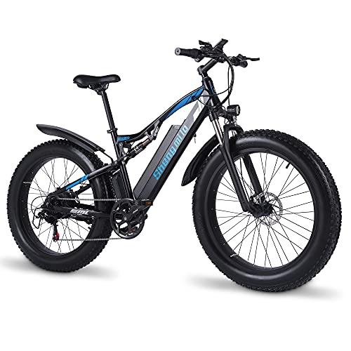 E-Bike Elektrofahrrad 1000W für Herren 26 * 4.0 Zoll Fat Reifen...