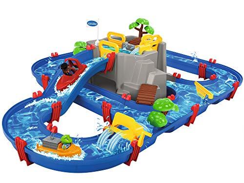 AquaPlay - Wasserbahn Set Bergsee - 42-teiliges Spieleset mit...