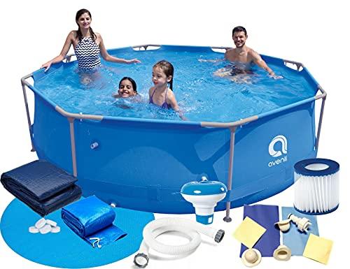 Gartenpool 360x76 cm 12 FT Mega Set 16in1! Pool Avenli Schwimmbad...