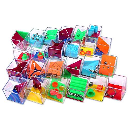 Schramm® 24 Stück Geduldsspiele Mini Denkspiel Knobelspiel für...