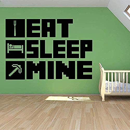Wandaufkleber,Wandsticker Eat Sleep My Game Poster Kinderzimmer...