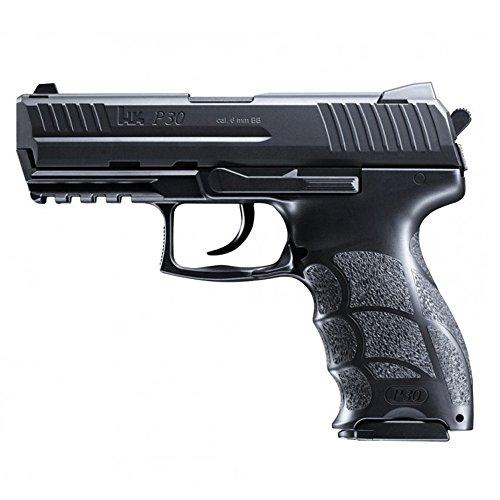 HECKLER & KOCH Softair P30. mit Maximum 0.5 Joule Airsoft Pistole, Schwarz, 6 mm