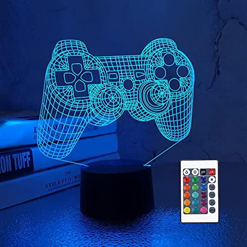 CooPark 3D Game Controller Lampe Nachtlicht 3D Illusionslampe...