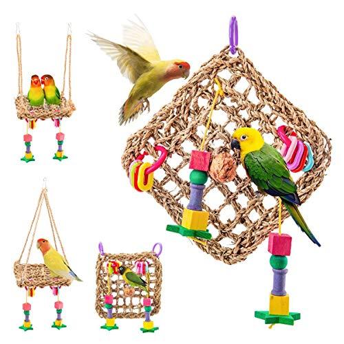 Birds Spielzeug, Natürlicher Nest Vogel Schaukel Vogelkäfig...