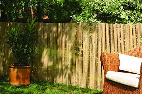DE-COmmerce Robuster Sichtschutz Zaun Bambus CALAMA extra...