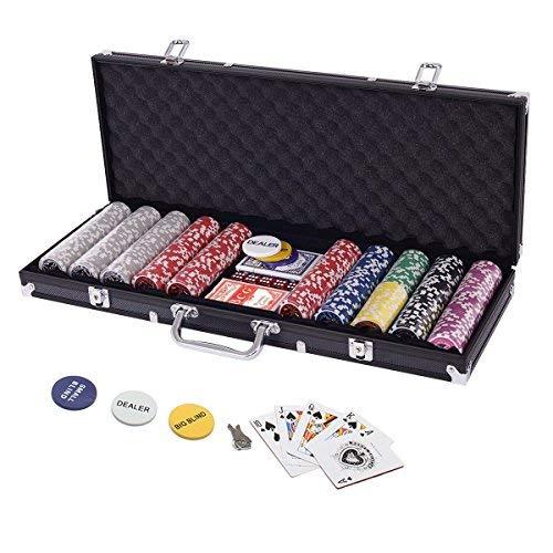 Display4top Pokerkoffer 500 Chips Laser Pokerchips Poker 12 Gramm...