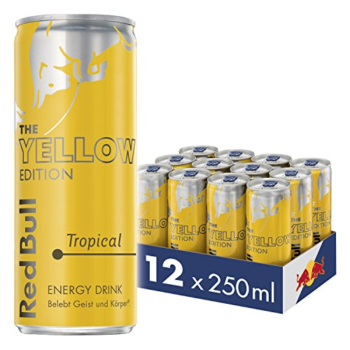 Red Bull Energy Drink Tropical Dosen Getränke Yellow Edition...
