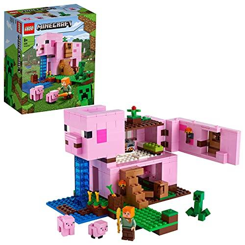 LEGO 21170 Minecraft Das Schweinehaus Bauset mit Figuren: Alex...