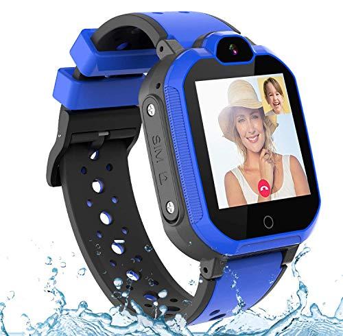 PTHTECHUS Kinder Smartwatch Wasserdicht IPX7, unterstützt 4G GPS...