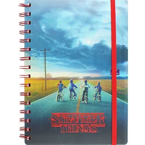 Stranger Things 3D-Notizbuch mit Spiralbindung, A5