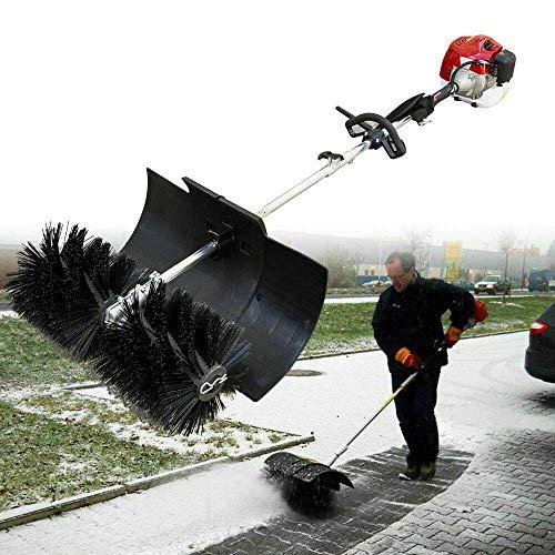 Handgehaltener elektrischer Schneepflug besen zum Schneeschaufeln...