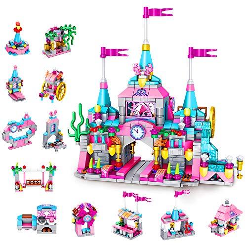 VATOS Prinzessin Burg Bausteine Spielzeug ab 6 7 8 9 10 11 12...