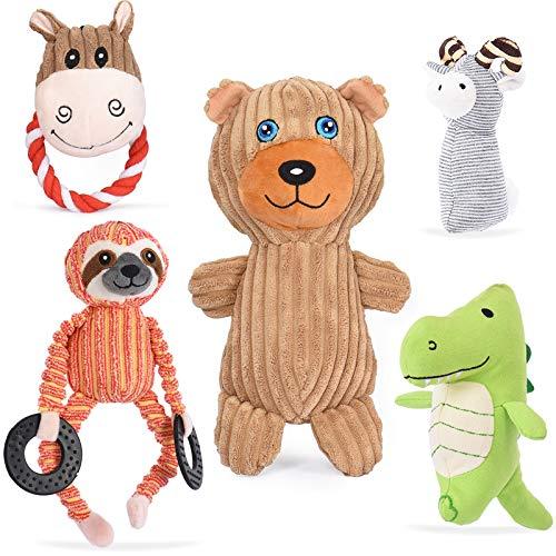VIEWLON Hundespielzeug Hund Plüschspielzeug Quietschendes - 5...
