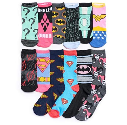DC Comics 12 Days of Socks Adventskalender Set für Damen,...