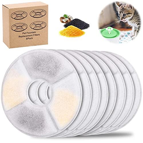 BEYAOBN 8 Stück Katzenbrunnen Filter, Ersatzfilter für...