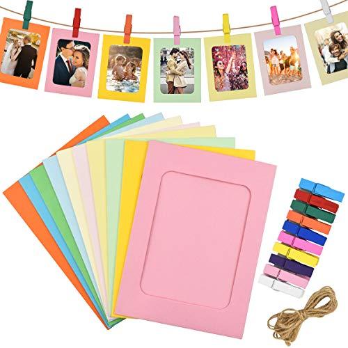 30 Stück Papier Fotorahmen, Bunt Papier Fotorahmen, Fotorahmen...