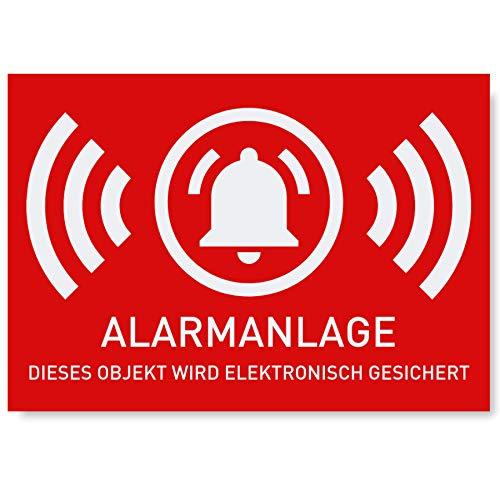 6 x Aufkleber Alarmgesichert (Klein - 5 x 3,5cm) - Schutz vor...