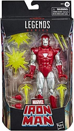 Marvel Hasbro Legends Series Classic 15 cm große Iron Man Silver...