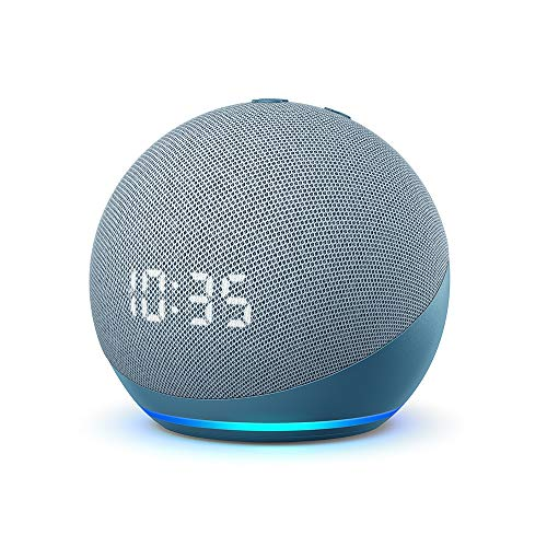 Echo Dot (4. Generation) | Smarter Lautsprecher mit Uhr und Alexa...