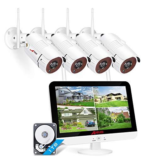 [Tonaufnahme] ANRAN 3MP 8CH Überwachungskamera Set WLAN mit 13...