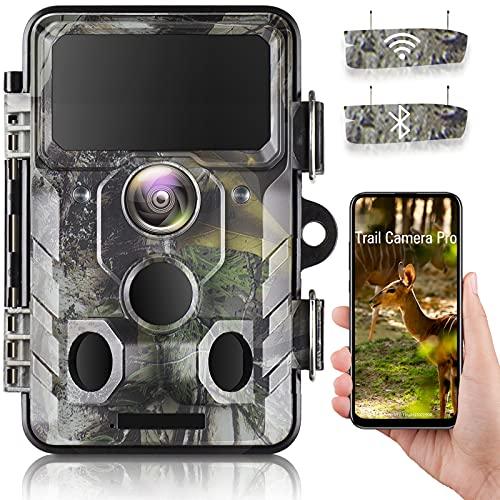 WLAN Bluetooth Wildkamera 20MP 1296P Video Jagdkamera mit 120 °...