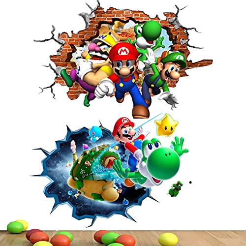 Wanddekoration Super Mario Wandaufkleber Mario Poster Wanddeko...