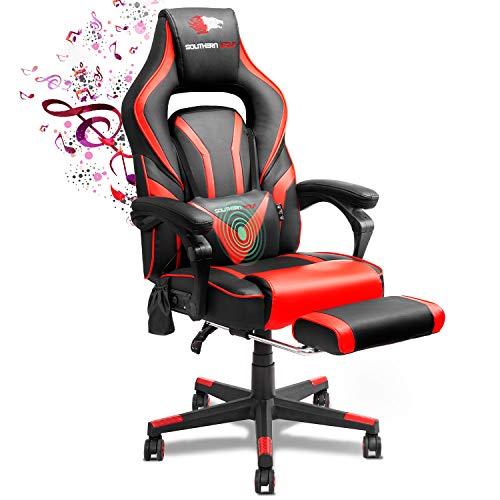 SOUTHERN WOLF Gaming Stuhl mit Fußstützen Bluetooth...