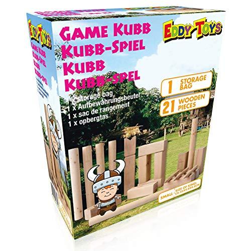 Eddy Toys - Kubb Game - Original Wikinger Wurfspiel für Draußen...