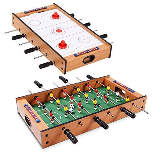 GOPLUS 2-In-1 Tischkicker, Mobiles Tischhockey- und...