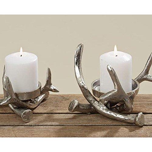 Kerzenständer Kerzenleuchter Metall Geweih Advent Tischdeko...